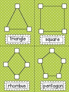 *FREE* Marshmallow Shapes! {Shape Building} with printables from Sweet Kindergarten (Dots or gum drops work better than marshmallows.) I'd use this idea and have my students create 3d shapes