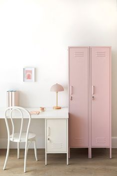 The Skinny in Blush by Mustard Made - The Skinny Locker wants to help. She'll keep your stuff neat and tidy. Standing alone or in paired with friends The Skinny is elegant, beautiful and practical. Storage for your kids room, home or work space. Simple Interior, Interior Modern, Interior Design, Hanging Rail, Neat And Tidy, Home And Deco, Furniture For Small Spaces, New Room, Adjustable Shelving
