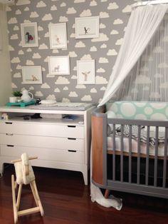 Quarto bebê menino - berço Ameise Design Arquiteta: Carolina Malaua