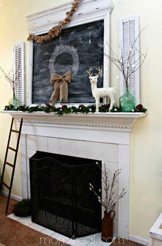 Christmas Mantel 2013 at mom4real.com