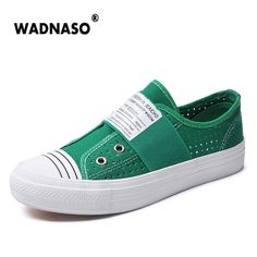 2017 Women's White Flats Casual vulcanize Shoes Shallow Canvas Lazy's Shoes espadrilles For girls Vulcaniz Soft Loafers Slip-on #Affiliate