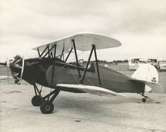 """This two-seat open cockpit biplane was originally designed in 1930 and featured a 55 hp Velie engine. Later upgraded to a 70 hp LeBlond, the """"Sport was finally introduced in 1932 wi… Aviation, Museum, Sports, Design, Hs Sports, Air Ride, Excercise, Sport, Design Comics"""