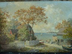 Summer on the Water, August Albo, DAC Collection - Donald Art Company Collection