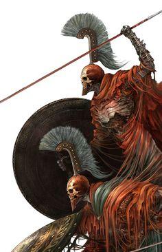of Fantasy Alexandre Chaudret Dark Fantasy Art, Fantasy Armor, Medieval Fantasy, Fantasy World, Dark Art, Gods Of War, Bild Tattoos, Fantasy Monster, Vampire