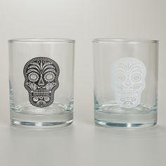 Muertos Double Old Fashioned Glasses, Set of 2 | World Market