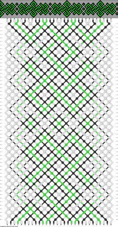 friendship bracelet pattern ● celtic ● 30S ● 3C ● A-B(12), C(6)