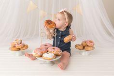 First Birthday Session Donut Smash Cake Smash Yellow Brick Road Photography www.yellowbrickroadphoto.ca