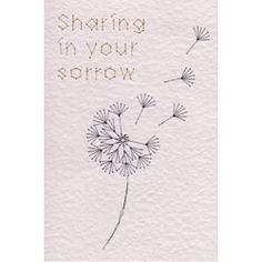 Dandelion Sorrow | Special Occasions e-patterns at Stitching Cards.