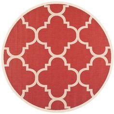 Safavieh Indoor/ Outdoor Courtyard Red Rug (6'7 Round) - Overstock™ Shopping - Great Deals on Safavieh 7x9 - 10x14 Rugs