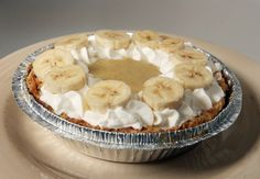 A mini banana cream pie from Mini's Bakery in Salt Lake City, known for its small retro-style cupcakes (and now pies)