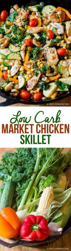 Quick and Easy Low Carb Market Chicken Skillet #healthy
