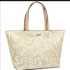 🎉 SALE🎉 Kate Spade handbag Bundle:  Kate Spade brand NWT Jules Grant Street grainy vinyl tote.  Great and roomy handbag.  Could be used for traveling, to carrying you Apple Mac computer  or for the beach.  Perfect neutral and natural colors to match all outfits this summer. kate spade Bags Totes