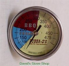 Stainless Steel BBQ Pit Smoker & Grill Thermometer Temperature Gauge Face - Davids E Stove Shop Barrel Smoker, Bbq Pit Smoker, Diy Grill, Diy Smoker, Outside Grill, Stainless Steel Bbq, Cooking Temperatures, Ovens, Drum