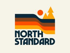 North Standard designed by Doublenaut. Connect with them on Dribbble; the global community for designers and creative professionals. Typography Inspiration, Logo Design Inspiration, Design Ideas, Retro Design, Web Design, Kids Graphic Design, Retro Logos, Vintage Logos, Badge Design