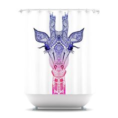 "Monika Strigel ""Rainbow Giraffe"" Shower Curtain"