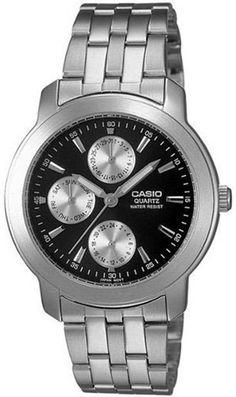0fd4b42fc79 Casio Men s Quartz Quartz Silver Band Black Dial