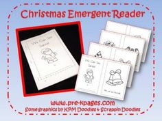 Holiday printable emergent reader with repetitive text via   www.pre-kpages.com/xmas/