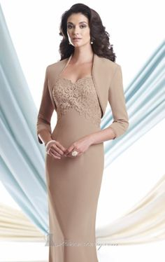 MOTHER OF THE BRIDE DRESS by SUZIE Q. A bolero to cover up in Baguio weather in December.