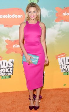 Witney Carson from Kids' Choice Awards 2016: Red Carpet Arrivals  Pretty in pink! The newly engaged Dancing With the Stars pro shows off plenty of diamonds in her colorful ensemble.
