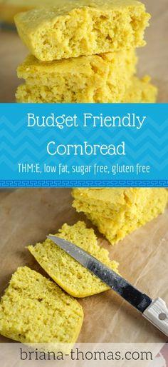 Budget Friendly Cornbread (THM:E, low fat, sugar free, gluten free)