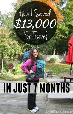 Visit TopTravelLists.Com Saving up enough money to travel long-term took discipline and dedication, and even changing my lifestyle. Here's an exact breakdown of how I did it.