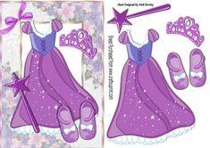 Pretty purple sparkle princess dress with tiara on Craftsuprint - Add To Basket!