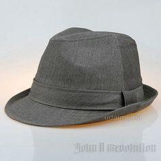 7b4efcc93a2 Grey Fedora for Men All Season Formal Dress Gray Trilby Felt Hat 7 1 8