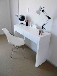 Superieur White Desk And Chair White Room Desk, Small Desk For Bedroom, White Bedroom  Chair