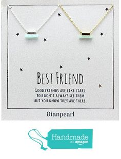Best friend necklace, BFF Necklace, friendship necklace for 2, Gold dainty necklace, gemstone necklace, jade gemstone, tiny stone necklace, dainty silver necklace from DIANPEARL https://www.amazon.com/dp/B06Y4NJH8W/ref=hnd_sw_r_pi_dp_Gln6yb27830E4 #handmadeatamazon