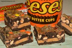 Reese's Gooey Cake Bars Shannon made these and there are YUMMY!!!