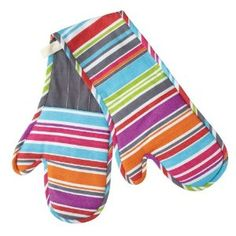 09080e15a06 Colourworks Striped Double Oven Glove  Amazon.co.uk  Kitchen   Home