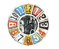 Reloj de pared en madera y lienzo – multicolor