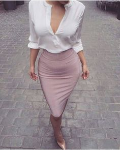 In relation to elegant summertime attire, there are loads of design to pick from, but always elegant is trendy. Business Casual Outfits, Business Fashion, Classy Outfits, Sexy Outfits, Cute Outfits, Fashion Outfits, Womens Fashion, Sexy Work Outfit, Fashion Hats