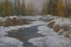 "Matthew J Cutter ~ ""Winter Brook"" ~ Oil"