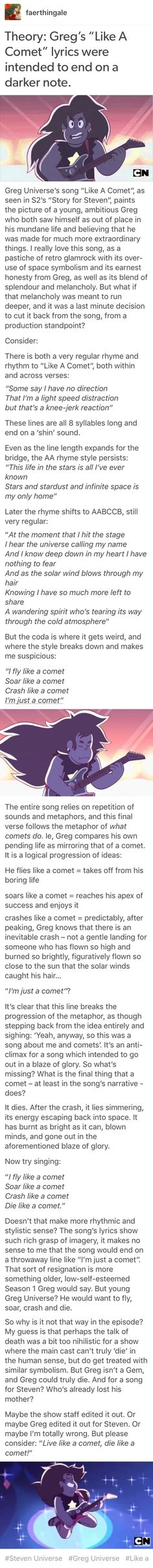 This is an interesting theory. This is one of my favorite songs from the show :)