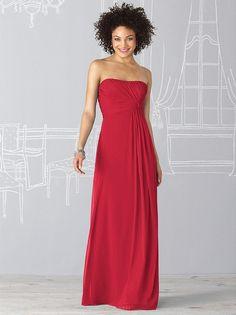After Six Bridesmaid Dress 6623 Front #RedDress #Bridesmaid #ModelBride #Wedding