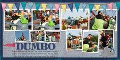 """First Ride"" 10 photo 2 pg LO Dumbo Disney Scrapbook LO"