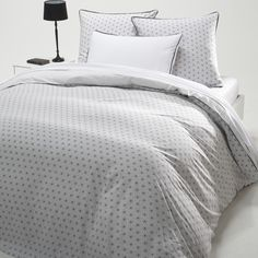 nordic, La Redoute online store, FREE Click & Collect for orders over and free returns† Bedroom Loft, Master Bedroom, Bed Linen Online, Cheap Bed Sheets, Cotton Duvet, Grey Flooring, Home And Deco, Nordic Style, Flat Sheets