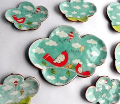 Little Cloud of Happiness Dish. $26.00, via Etsy. Love em all! *********