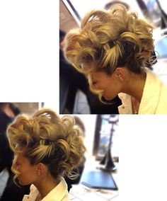 Mohawk fun updo By Lisa Frallicciardi