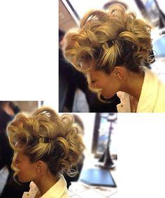 Mohawk fun updo By Lisa Frallicciardi - haarschnitte Up Hairstyles, Pretty Hairstyles, Wedding Hairstyles, Love Hair, Big Hair, Bridesmaid Hair, Prom Hair, Mohawk Updo, Runway Hair