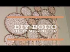 DIY BOHO STYLE DREAMCATCHER - YouTube Watch how I made this huge boho style Dreamcatcher.