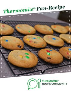 Chewy m&m cookies by Liz_smith. A Thermomix <sup>®</sup> recipe in the category Baking - sweet on www.recipecommunity.com.au, the Thermomix <sup>®</sup> Community.