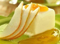 Semifrío de pera bajo en calorías Food N, Diy Food, Mousse, Healthy Dessert Options, Sorbet, Nutella, Cheesecake, Keto, Chocolate