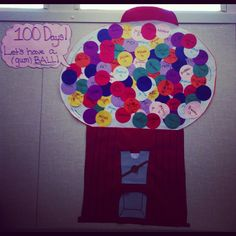 It's almost the 100th day of school! Thanks for the idea Reza.  :)