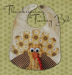 TURKEY Toddler Bib  Downloadable PDF Pattern by SewTuti on Etsy, $6.99