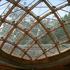 The completed gridshell from below Glass Roof, Glass Domes, Glass Screen,  Parametric Architecture cc350a1e85b