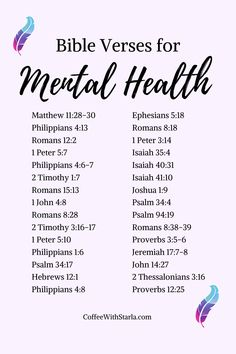 Bible Verses for Mental Health ~ Coffee With Starla : Bible Verses for mental health Bible Study Plans, Bible Study Notebook, Bible Study Journal, Inspirational Bible Quotes, Bible Verses Quotes Inspirational, Bible Scripture Quotes, Bible Quotes About Hope, Bible Quotes About Anxiety, Women Bible Verses