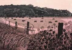 'Wincheslea' - Linocut by Robert Tavener