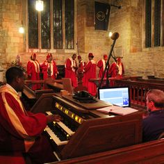 DMU Gospel Choir - recorded on location at Brooksby Church - recording begins!